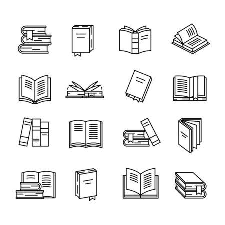 Conjunto de iconos de libro