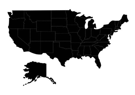 Mappa degli Stati Uniti Vettoriali