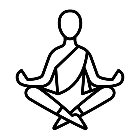 Yoga meditaion icon Stock Illustratie