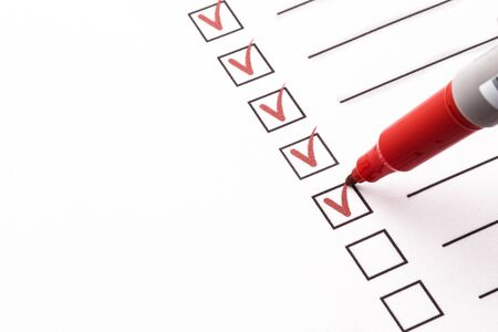 Checklist met potlood Stockfoto