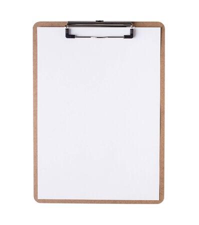 Zwischenablage mit leerem Papier