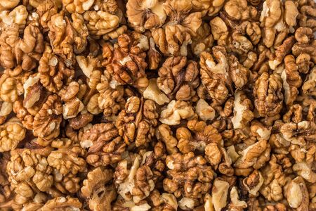 Background of walnuts Banco de Imagens