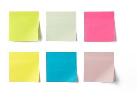 Set of colorful sticky notes Stockfoto