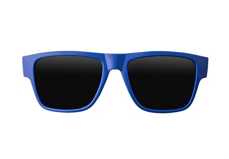 Blue sunglasses isolated on white background 스톡 콘텐츠 - 140729131