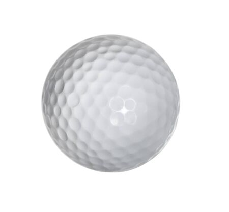 Golf ball isolated on white background