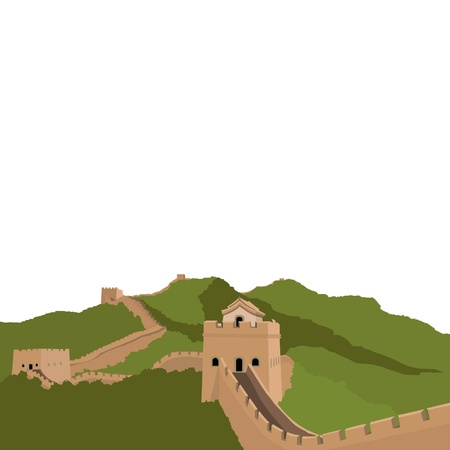 great wall: Great Wall of China Illustration