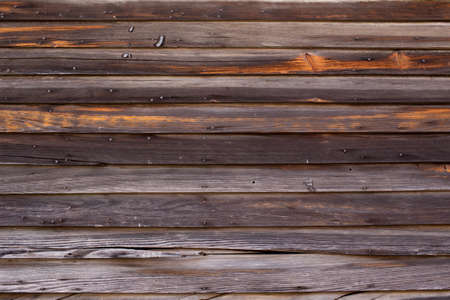 greying: Old, freshly cleaned and pressure washed grey wood, horizontal siding wall Stock Photo