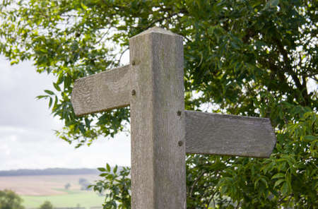 Blank Footpath Countryside Sign Post photo