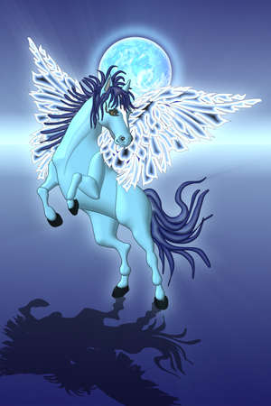 Blue Pegasus Stock Photo - 13260322