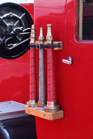 voiture de pompiers: Incendie moteur Banque d'images