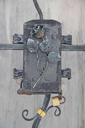 doorlock: old doorlock Stock Photo