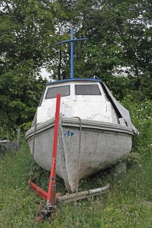 motorboat: an old motorboat