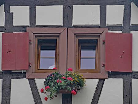 Windows in historical house Reklamní fotografie