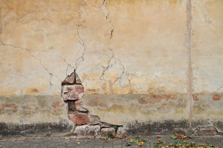 Wall with crack