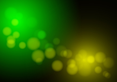abstract green and yellow light bokeh background. vector Ilustrace
