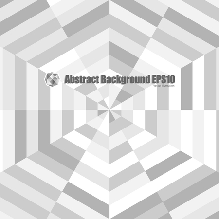 illustion: Abstract grey geometric illustion background