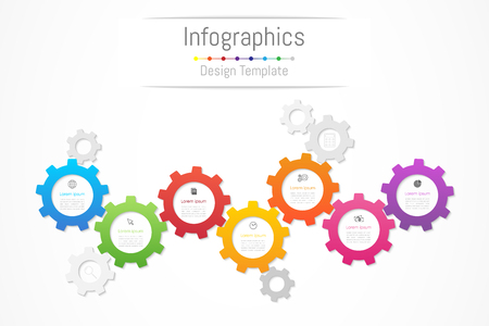 Infographic design elements for your business data with 7 options