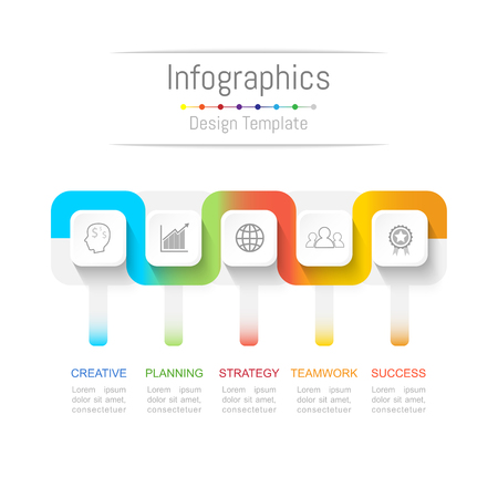 Info graphic design with 5 options