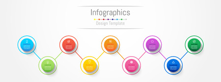 Infographic design elements for your business data with 9 options, parts, steps, timelines or processes. Vector Illustration. Illustration
