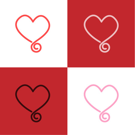 heart sign icon background vector.