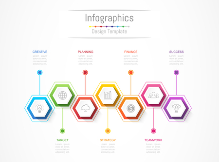 Infographic design elements for your business data with options, parts, steps, timelines or processes. Vector Illustration.