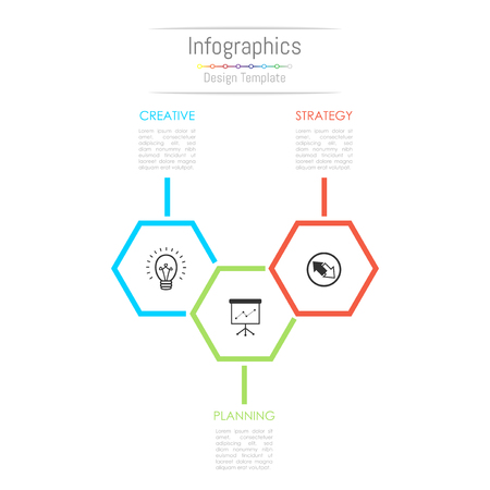 Infographic design elements for your business data with 3 options, parts, steps, timelines or processes. Vector Illustration. Illustration