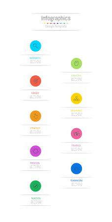Infographic design elements for your business data with 9 options, parts, steps, timelines or processes. Vector Illustration. 矢量图像