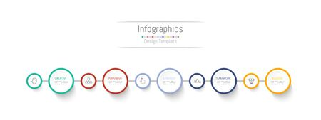 Infographic design elements for your business data with 5 options, parts, steps, timelines or processes