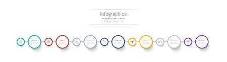 Infographic design elements for your business data with 7 options, parts, steps, timelines or processes. Vector Illustration. 矢量图像