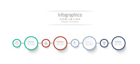 Infographic design elements for your business data with 4 options, parts, steps, timelines or processes. Vector Illustration. 矢量图像