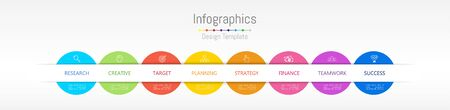 Infographic design elements for your business data with 8 options, parts, steps, timelines or processes. Vector Illustration.