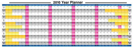 schedule system: Just 2010 Year Planner, The vector file can be resized to any size you need with the needed resolution. Be free Illustration