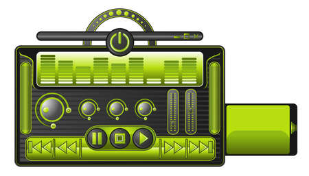 cassette, player, the developer and programmer can use it to make media for audio and video use Stock Vector - 6047650