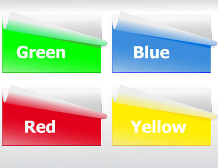 set of color stickers for various application Vector