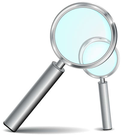 Two realistic magnifying glass , It is easy to edit  Stock Vector - 13617714