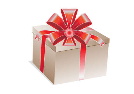 closed box: closed box with a gift, is tied up by a tape