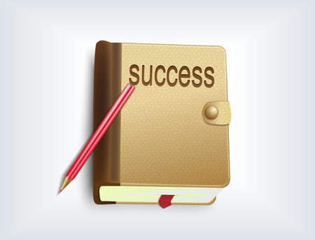 Notebook icon - the success concept Stock Vector - 14766900