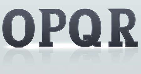continuation: SSet 2  alphabet continuation , O P Q R plastic letters
