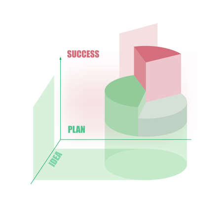 abstract chart graphic - concept  for success in business