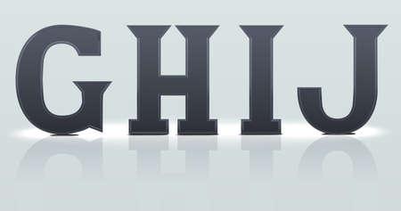 assembly language: Set 4 : G H J I  plastic letters