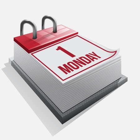 Calendar  icon on a white background Stock Vector - 15754986
