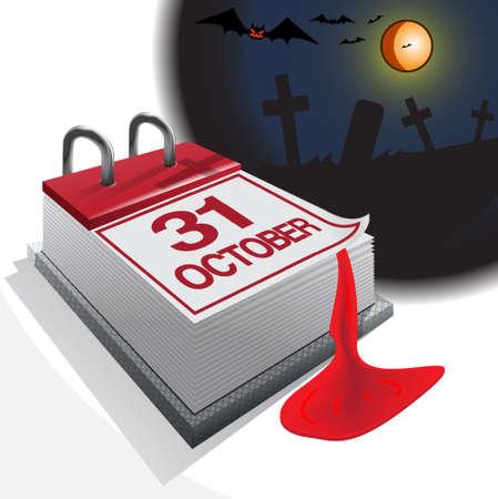 CALENDAR 31 OCTOBER Stock Vector - 15887289