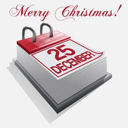 calendar Merry Christmas Stock Vector - 16425924
