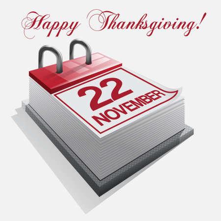 day planner: calendar Thanksgiving Day