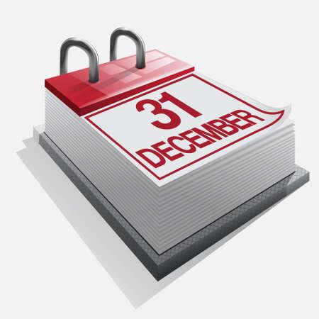 calendar 31 december Stock Vector - 16685597