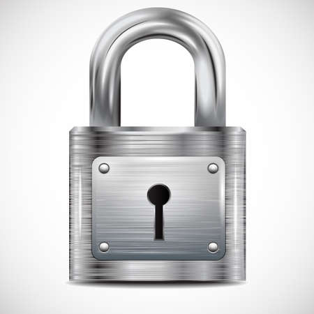 metal structure: icon padlock, metal structure