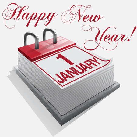 Happy New Year 1 January Stock Vector - 16685605