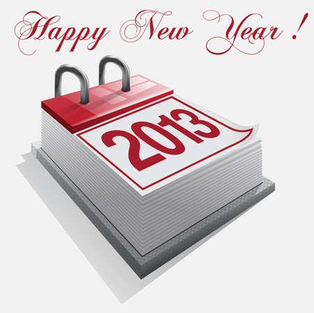calendar Happy New Year Illustration