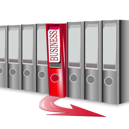 resourcefulness: folder business, concept success in business Illustration