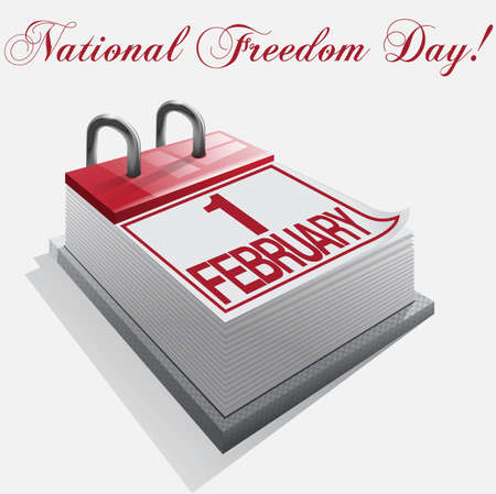 calendar 1 february National Freedom Day Vector